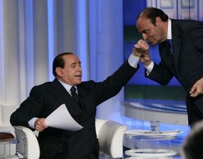 Silvio Berlusconi on RAI1 asa guest to Bruno Bruno's Porta a Porta talk show
