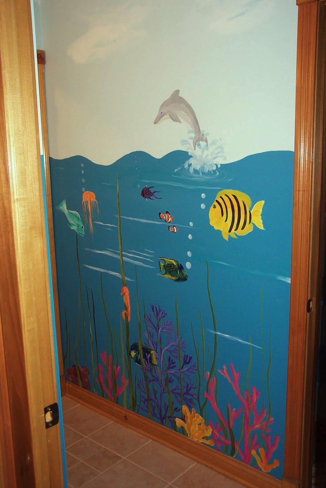Dddesigns murals child 39 s bathroom under the sea for Under the sea bathroom ideas