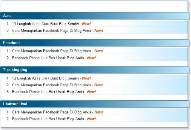 Cara membuat Sitemap untuk blogspot blogger.