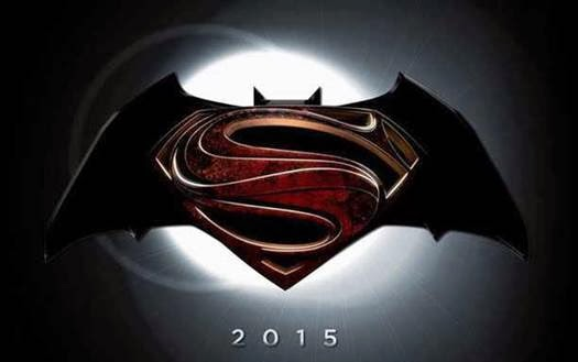 Man of Steel sequel promo logo, titled Batman vs. Superman