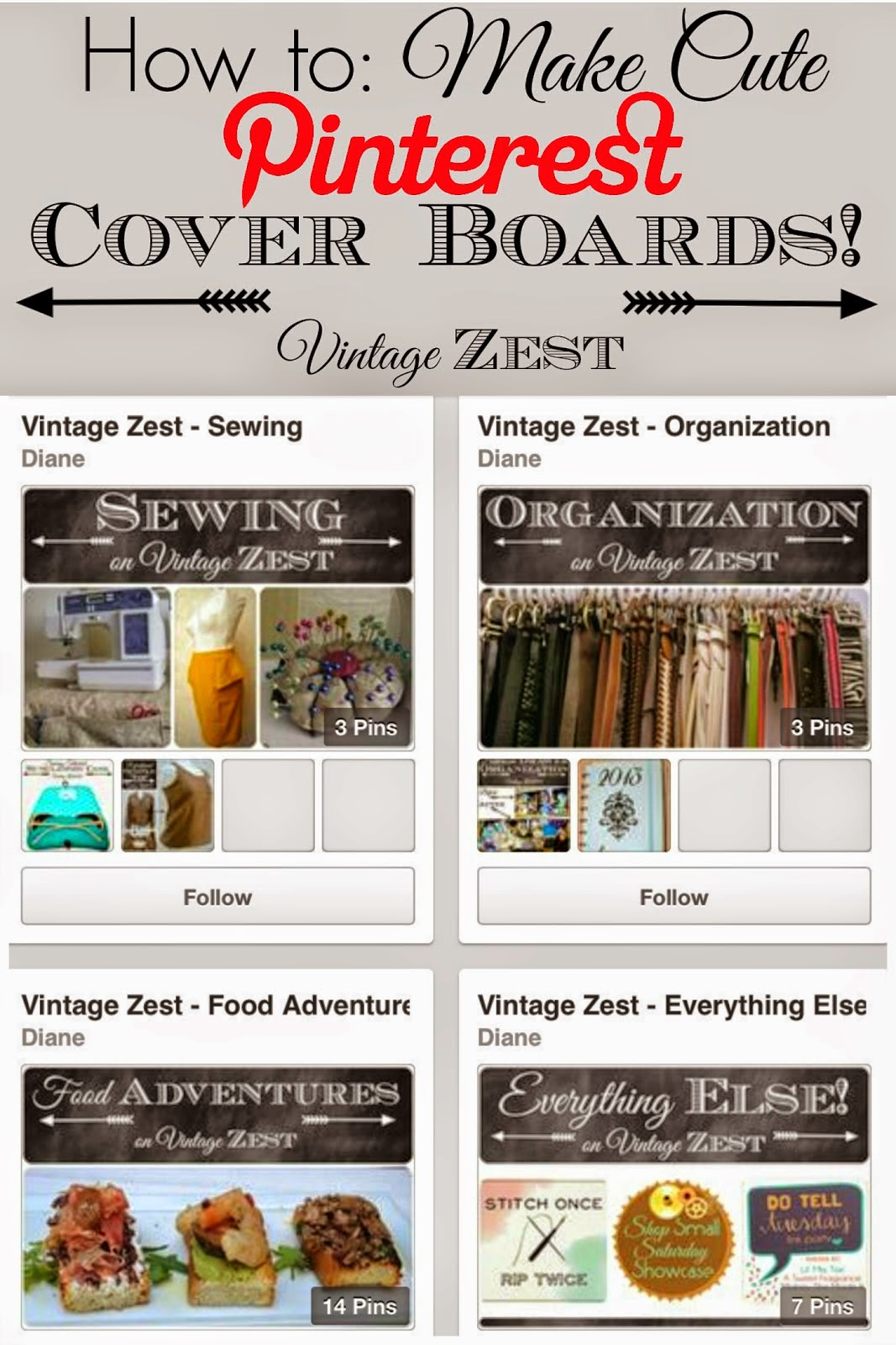 How to make Pinterest cover boards
