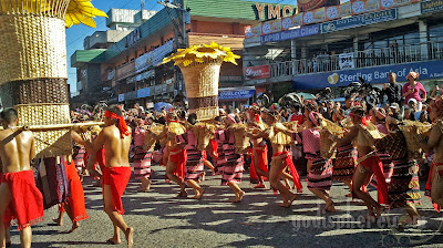 Ifugao Ethnic dancers during Panagbenga