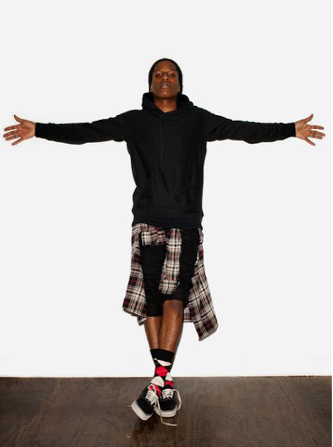 ASAP Rocky checkered shirt