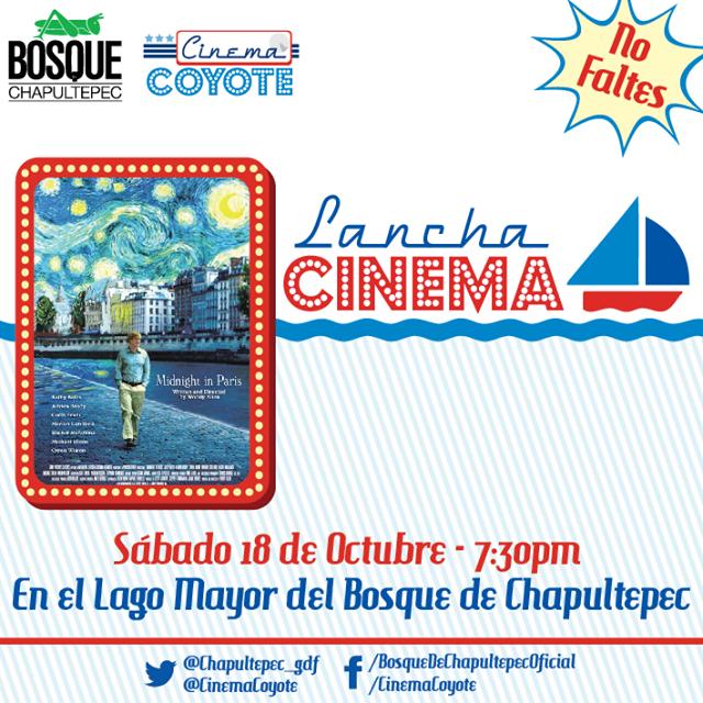 """Lanchacinema presenta """"Medianoche en París"""" de Woody Allen en Chapultepec"""