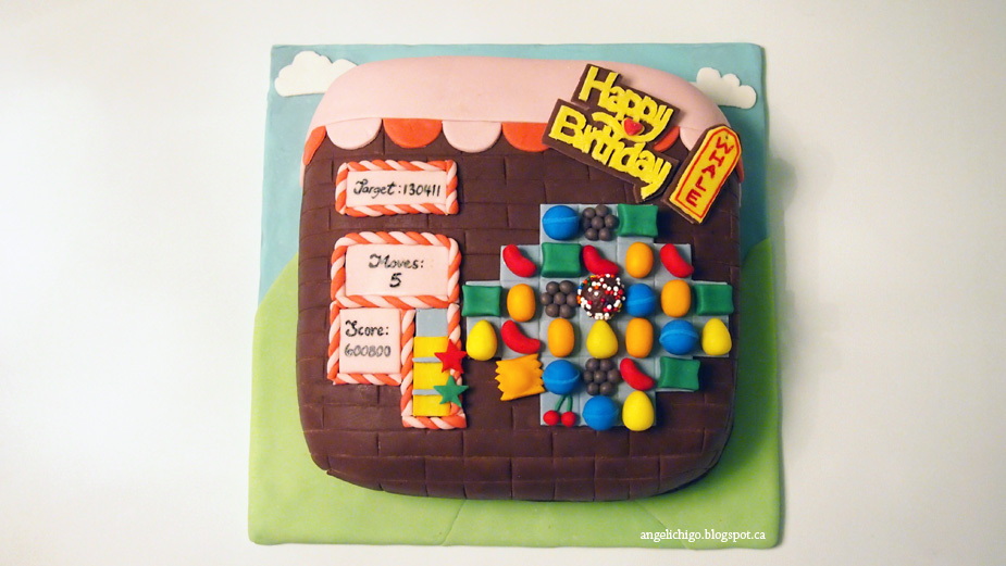 Candy Crush Birthday Cake}