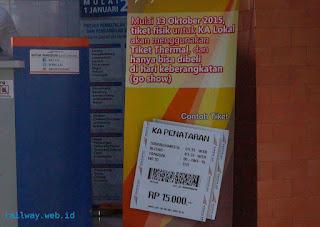 Pantauan Peralihan Tiket KA Thermal Daop 8 Perdana