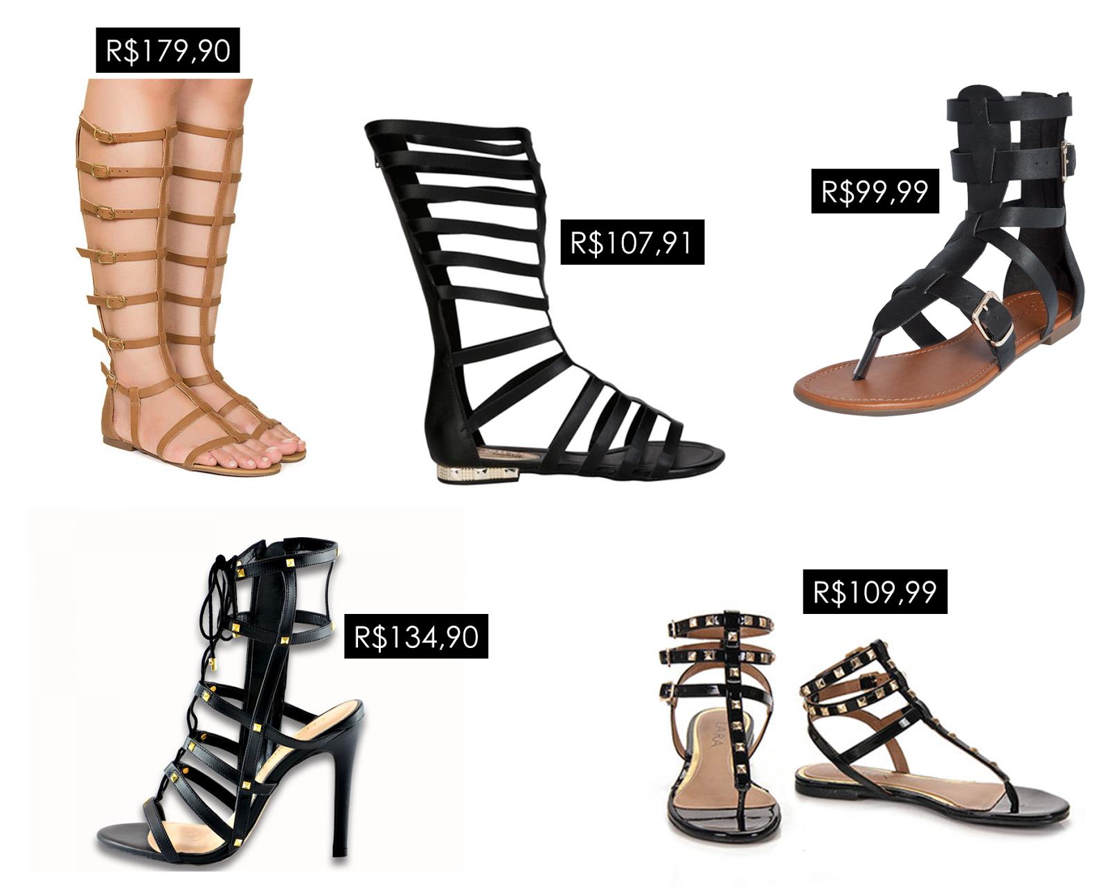 Onde comprar - Gladiadoras | Ally Arruda Blog