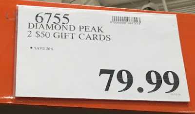 Deal for 2 $50 gift cards to Diamond Peak ski resort for $79.99 at Costco