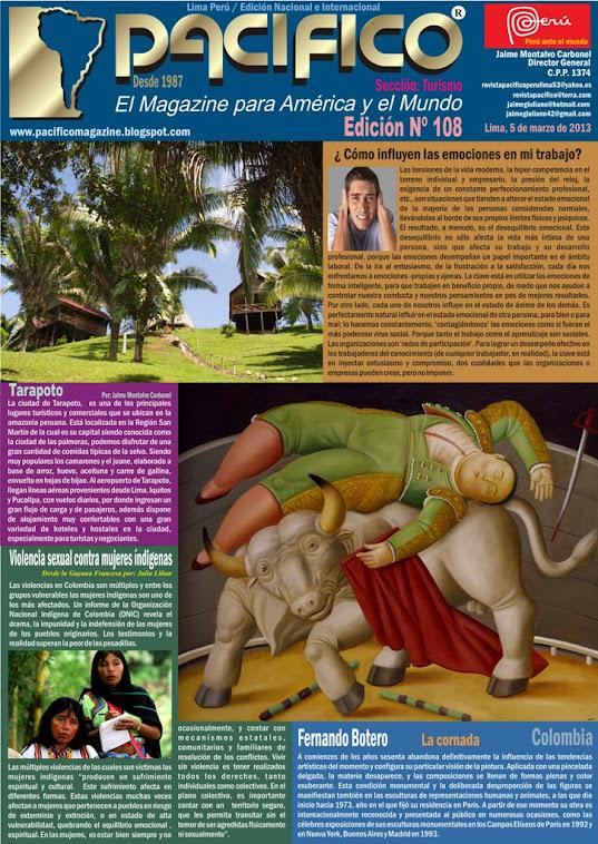 Revista Pacífico Nº 108 Turismo
