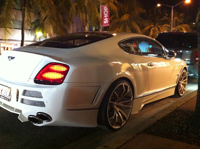white bentley continental gt with custom rims upholstery body modifications exotic cars on. Black Bedroom Furniture Sets. Home Design Ideas