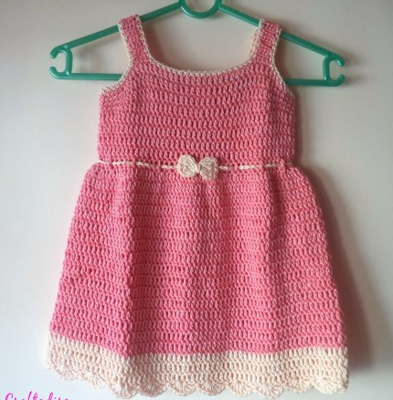 Summer Peach Toddler Dress - Free Crochet Pattern