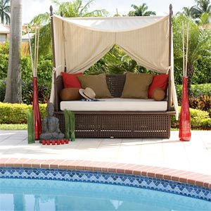 ROSE WOOD FURNITURE: outdoor lounge beds
