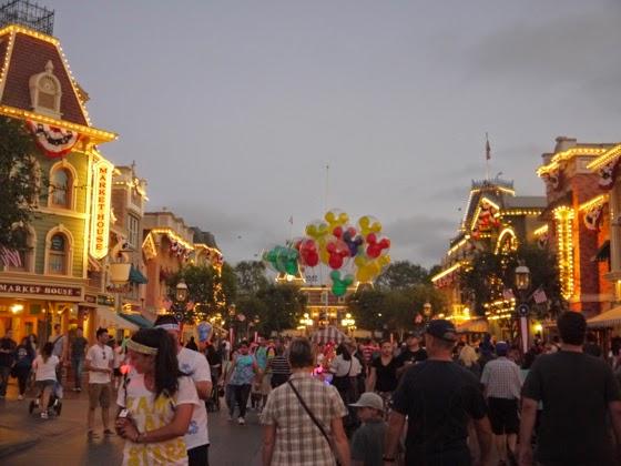 Disneyland Night Main Street
