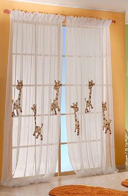 Dise os de cortinas para ni os infantil decora for Visillos infantiles