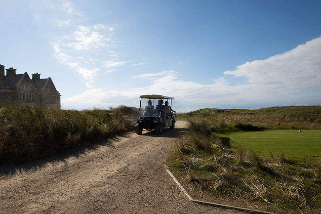 Wedding Photography Doonbeg Ireland. golf cart