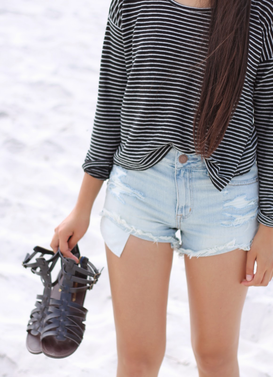 outfits for school, denim shorts outfit