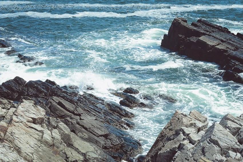 Greater Portland, Maine New England Cape Elizabeth Atlantic Ocean Rocky shore photo by Corey Templeton