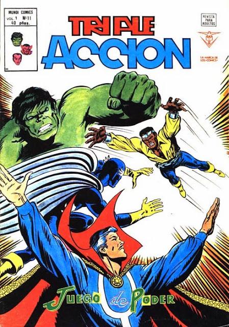 Portada de Triple Acción Volumen 1 Nº 11 Ediciones Vértice