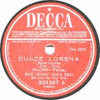 "Dulce Lorena - Nat ""King"" Cole Trío"