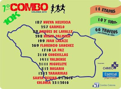 10k Nueva Palmira (4a. fecha Combo Colonia; 29/ago/2015)
