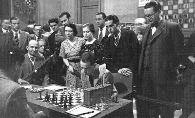 Salo Flohr, en el Torneo Internacional de Ajedrez de Barcelona, 1935