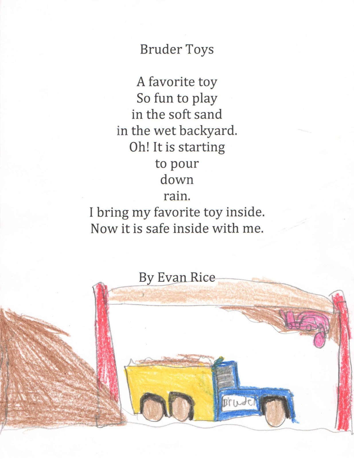 my favourite toy car poem