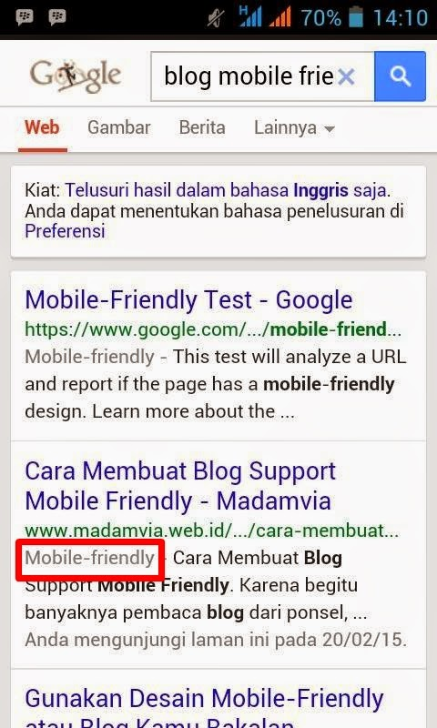Cara Membuat Blog Support Mobile Friendly