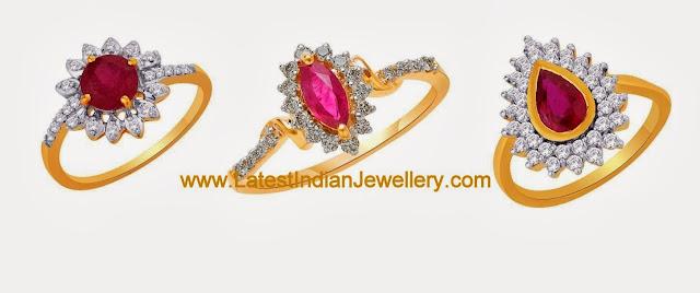 Diamond Ruby Rings