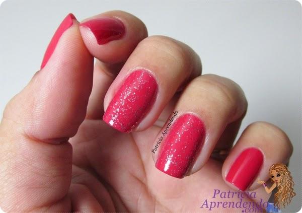 Esmalte Ludurana Rosa Chiclete e Glitter Rosa