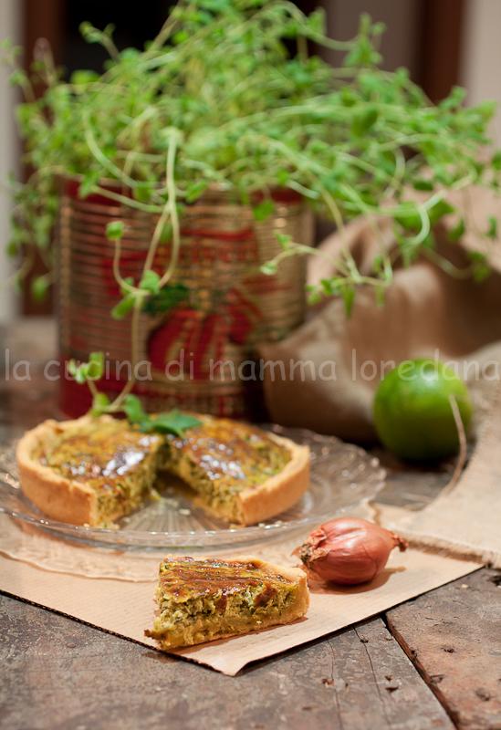 torta salata alle erbe aromatiche, quiche al tonno di coniglio con la brisée di m. roux per l'mtc n°46