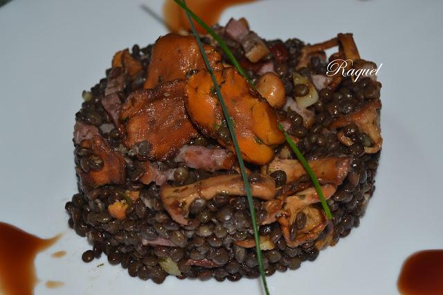 Ensalada Templada De Lentejas Caviar Con Rebozuelos