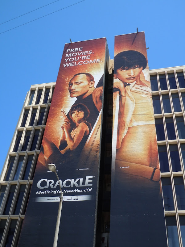 Giant Crackle free movies billboard