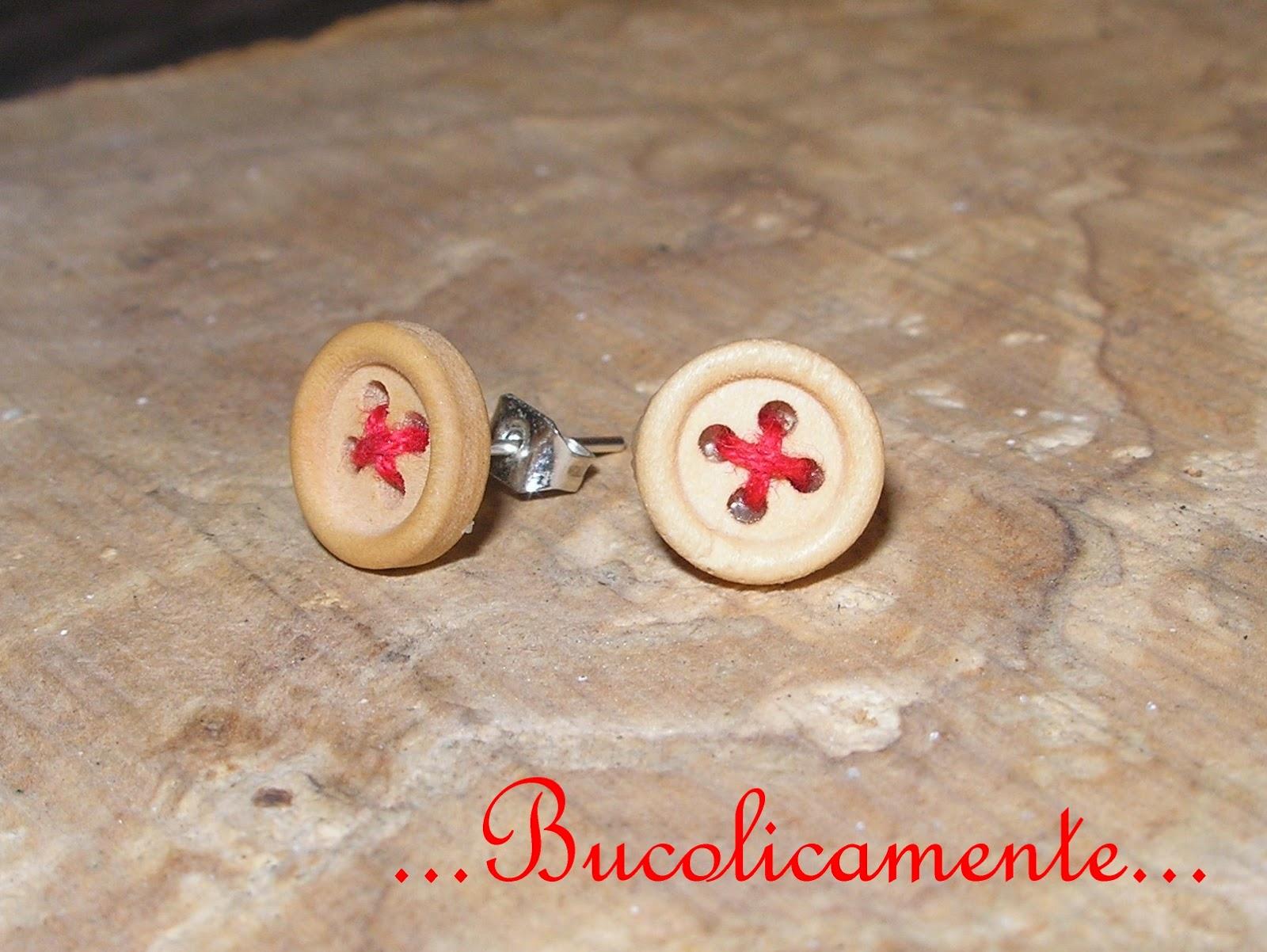 orecchini in legno fai da te
