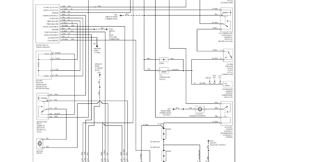 1995 chevrolet tahoe system wiring diagrams air