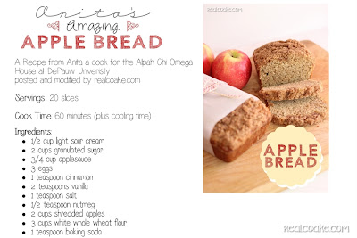 Anita's Amazing Apple Bread Recipe from realcoake.com