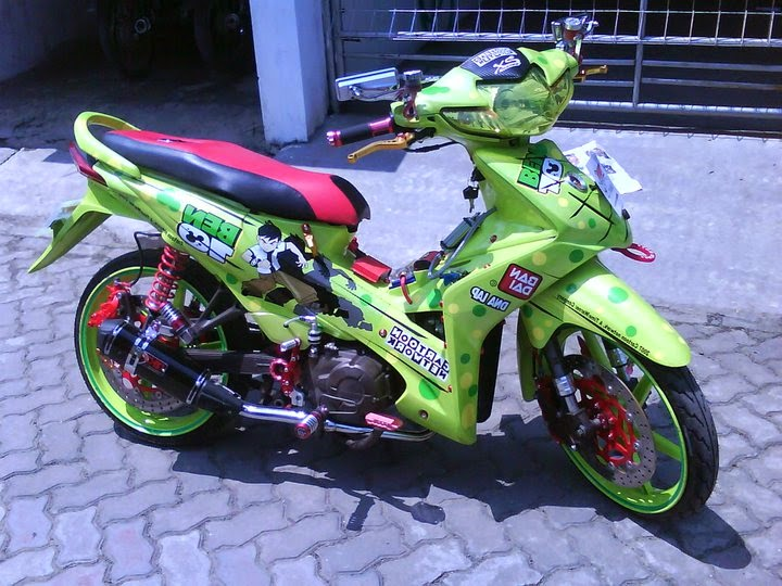 contoh modifikasi motor honda revo absolute