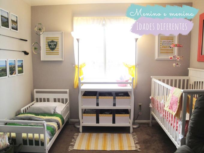 No mesmo quarto menino + menina ou bebê + criança  ~ Quarto Montessoriano Para Irmaos