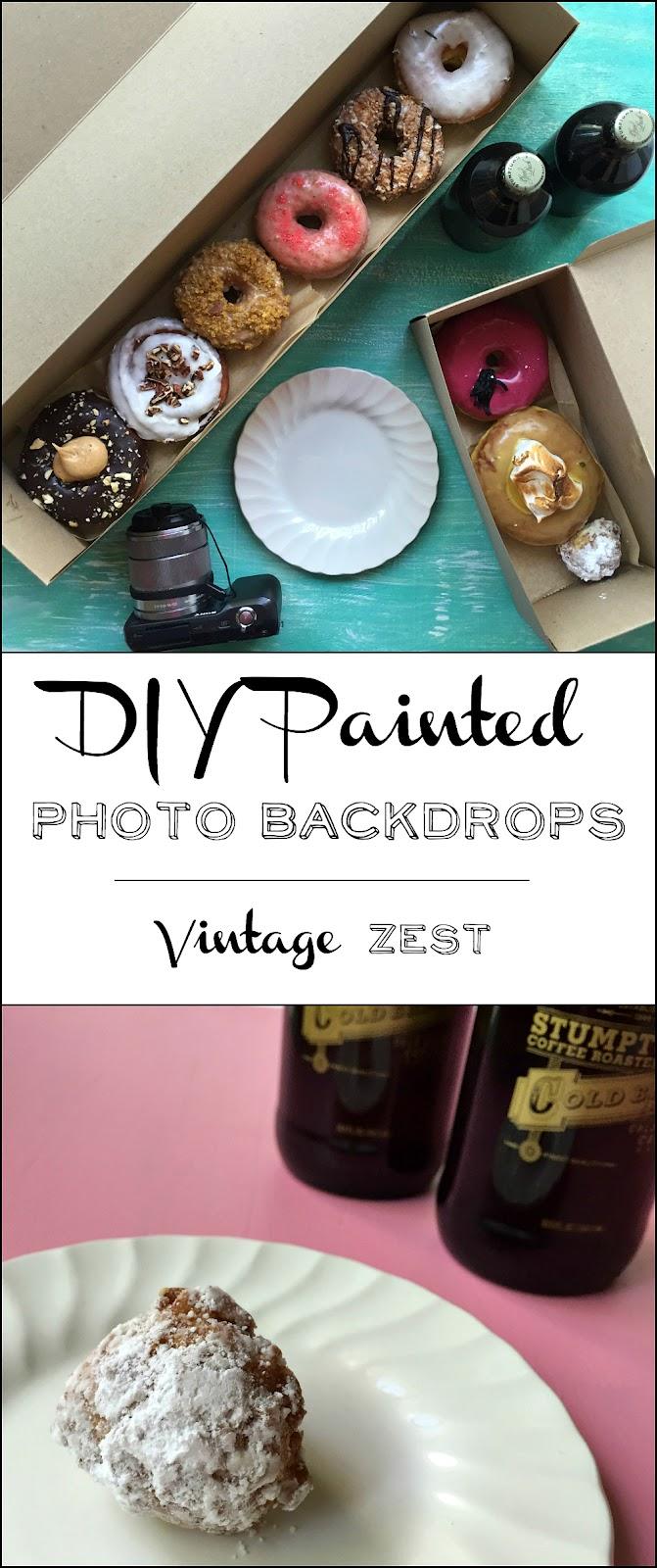 DIY Painted Photo Backdrops on Diane's Vintage Zest  #paint #photography #blogging
