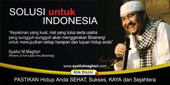 Inilah Syaiful M Maghsri Motivator spiritual no. 1 indonesia