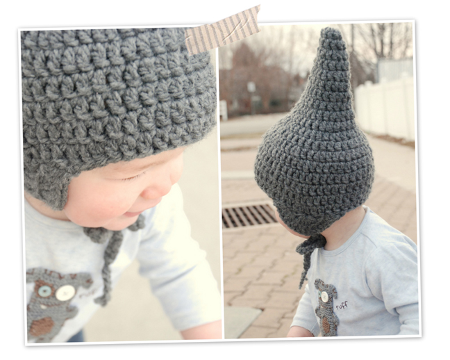 Lorajean\'s Magazine,: Tutorilal: How to crochet a baby gnome hat