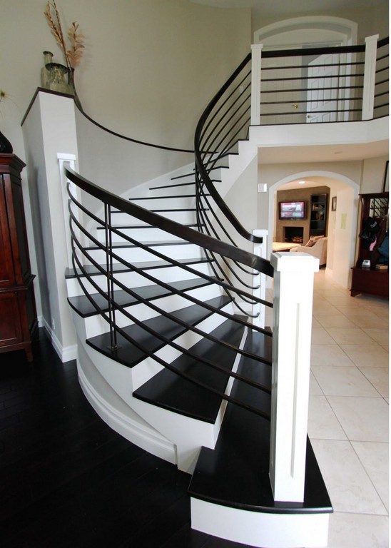 Modern homes interior stairs designs ideas home decorating for Stair designs interior