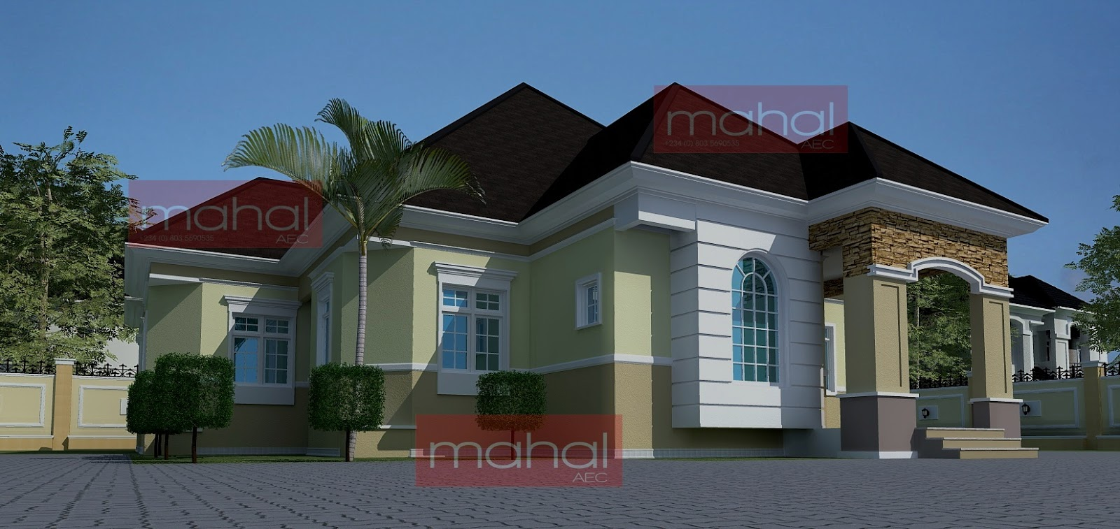Contemporary nigerian residential architecture festus for Architectural designs in nigeria
