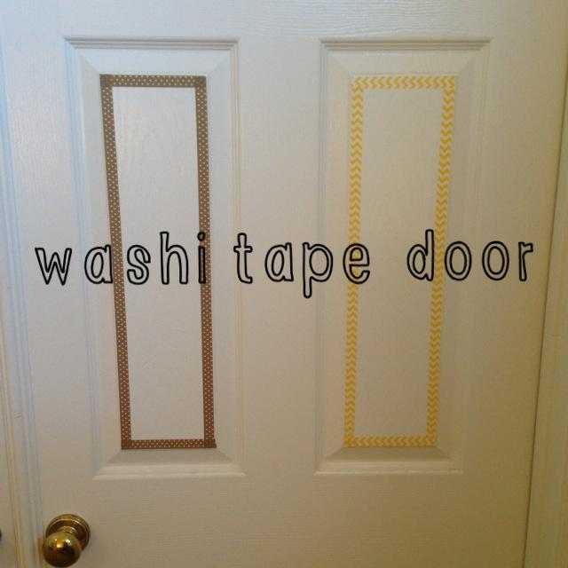 DIY Washi Tape Bedroom Door & Joyful Treasure Hunting: DIY Washi Tape Bedroom Door