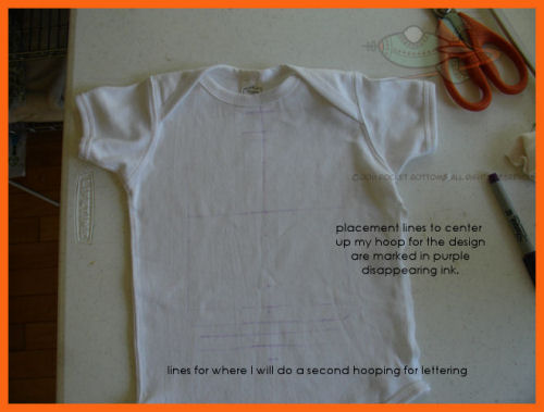 How to embroider on a onesie or small shirt for a child nature`s