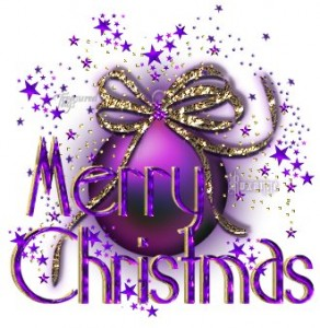 merry christmas purple gif