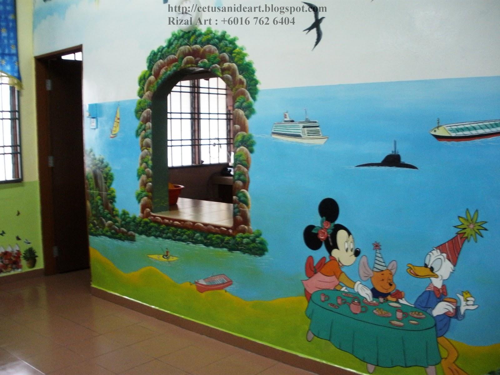 Mural art cetusan idea february 2013 for Mural tadika