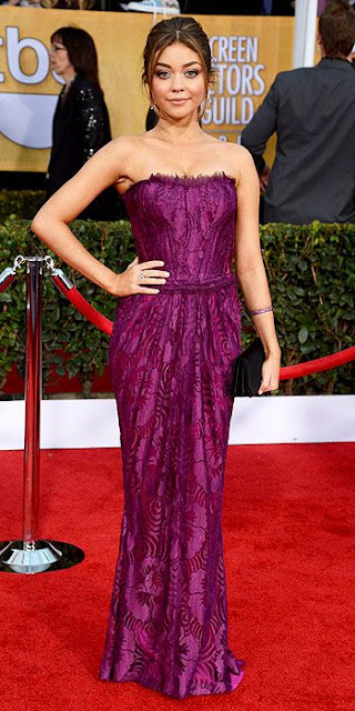 Sarah Hyland SAG dress, Dior, Screen Actors Guild Awards fashion, SAG fashion