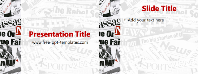 newspaper template for ppt