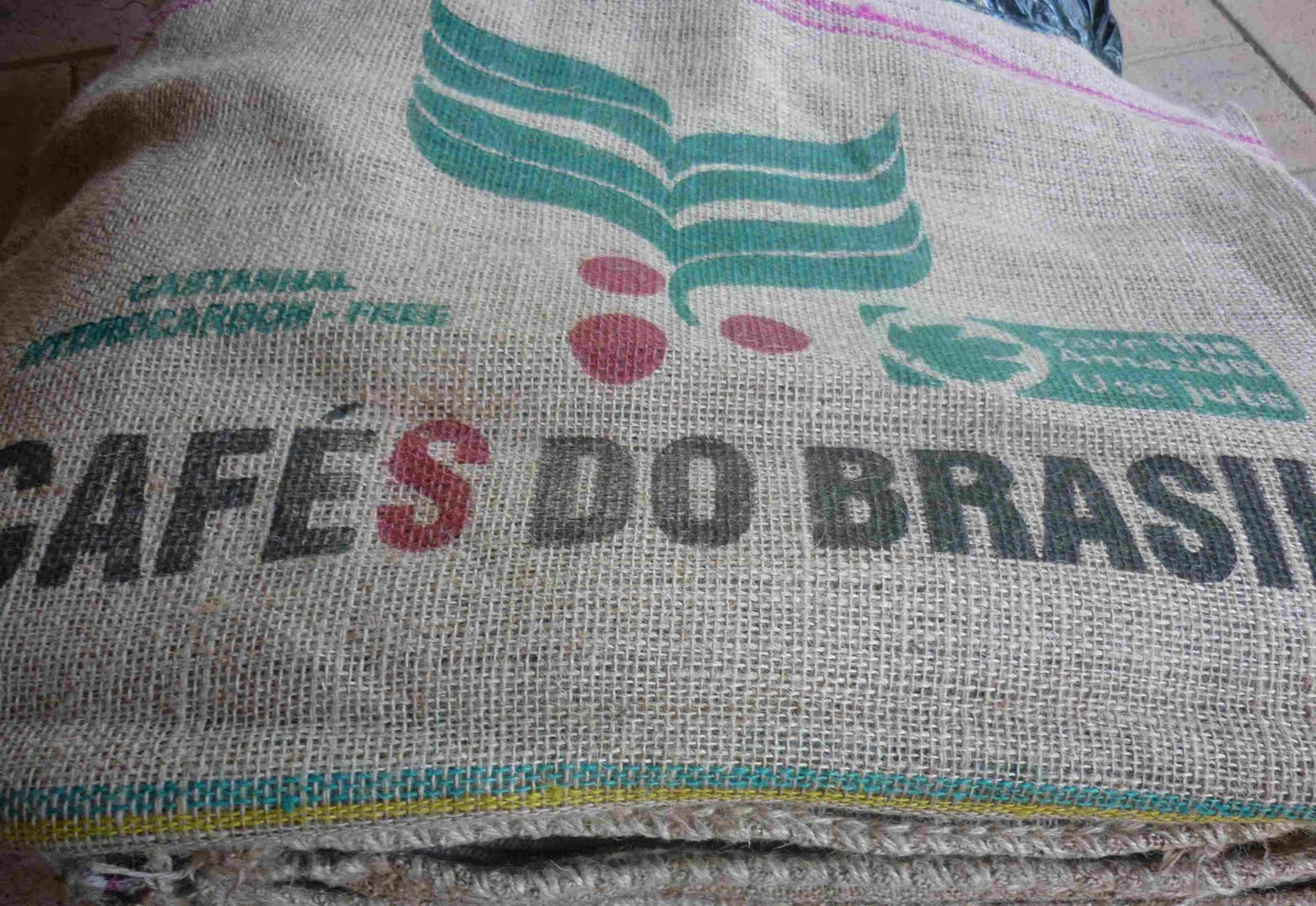 Small Hessian Coffee Sack Lined Drawstring Backpack Jute Burlap Fabric Bag Recycled