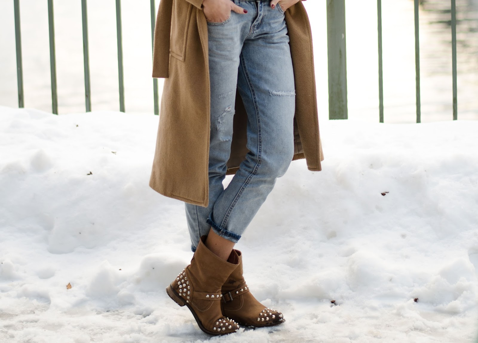 kristjaana mere boyfriend jeans chiara ferragni studded ankle boots